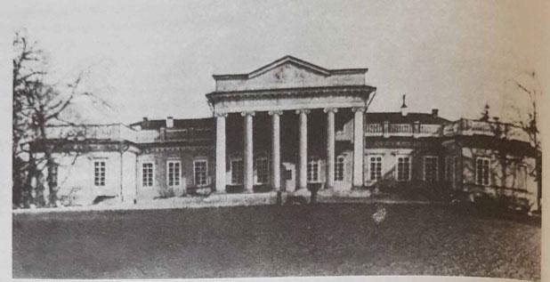 Pałac Grocholskich w Stryżawce, około. 1914 r.*.
