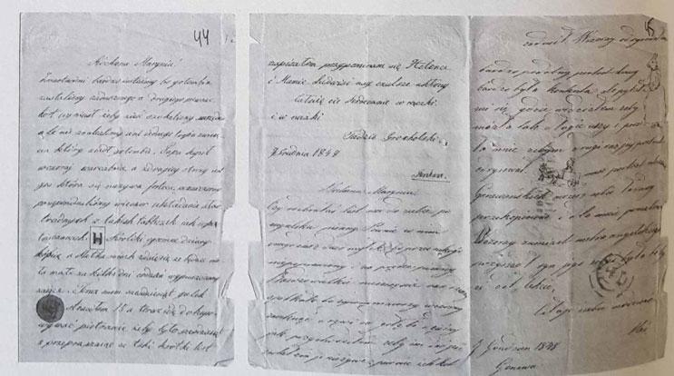 List Tadeusza i Stanisława Grocholskich do ich siostry Marii (od 7.XII.1848 z Genewy) (спр. 4, арк. 44-45** )